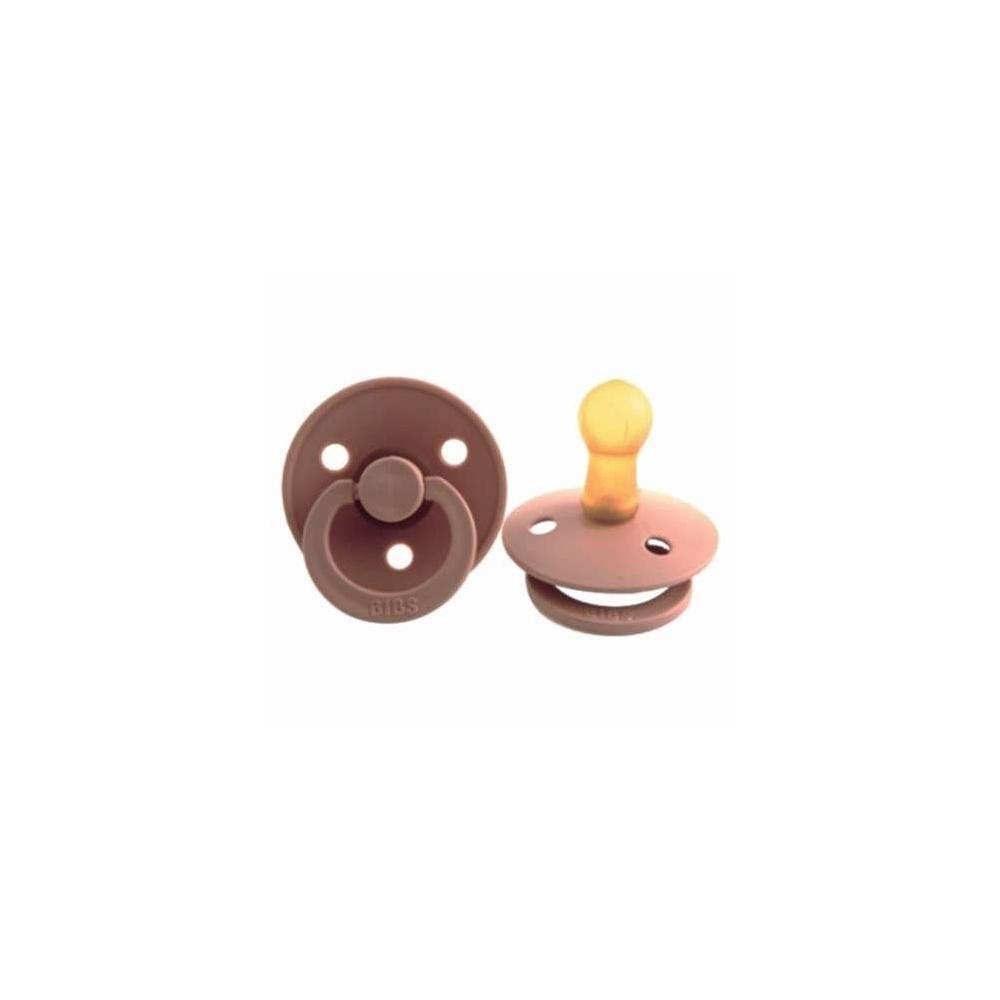Smoczek z kauczuku naturalnego Peach BIBS Color