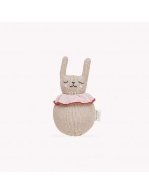 Zabawka jingling rabbit toy Main Sauvage