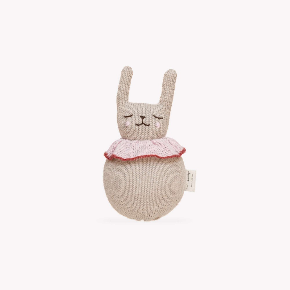 Zabawka jingling rabbit toy Main Sauvage