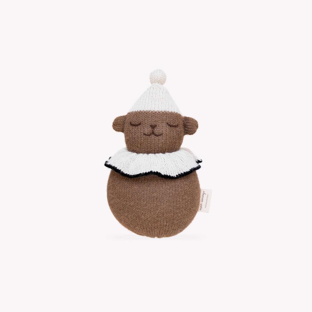 Zabawka jingling teddy toy Main Sauvage