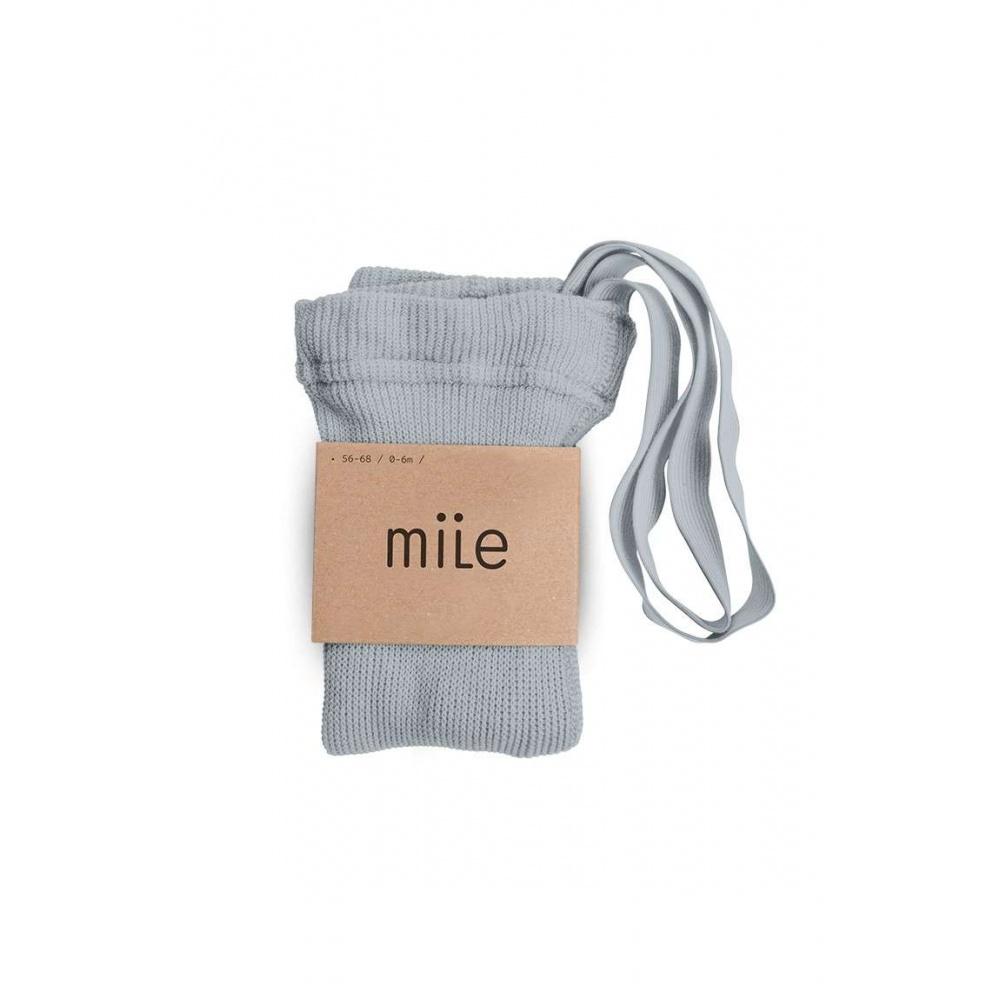 Rajstopy z szelkami szary Mile