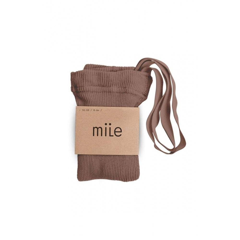 Rajstopy z szelkami orzech Mile