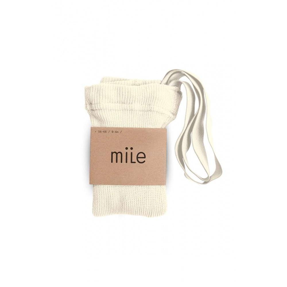 Rajstopy z szelkami kremowy Mile