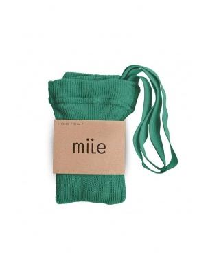 Rajstopy z szelkami ciemna zieleń Mile