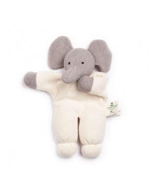PRZYTULANKA/GRZECHOTKA Z BAWEŁNY ORGANICZNEJ ELEPHANT NANCHEN NATUR