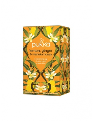 Herbata Lemon,Ginger & Manuka Honey 20 saszetek Pukka