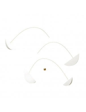 Mobil Life & Thread, white & gold Flensted Mobiles