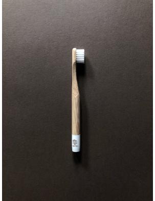 Bambusowa szczoteczka do zębów dla dzieci BIAŁA Nested