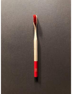 Bambusowa szczoteczka do zębów dla dorosłych CZERWONA Nested