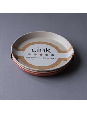 Zestaw 3 bambusowych talerzy Fog/Rye/Brick Cink