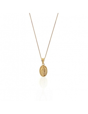 SAINT NECKLACE GOLD WISHBONE