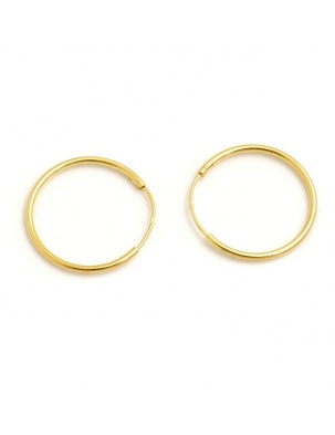 KOLCZYKI HOOP EARRINGS GOLD S WISHBONE