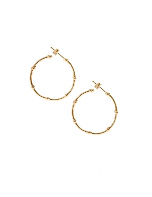 KOLCZYKI KNOTS EARRINGS GOLD WISHBONE