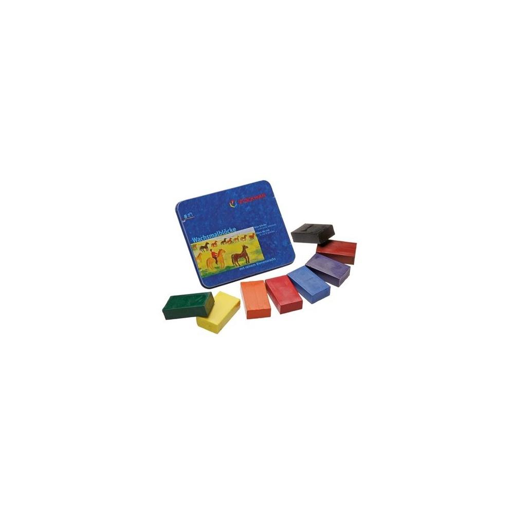 Nietoksyczne bloczki woskowe 8 kolorów STOCKMAR