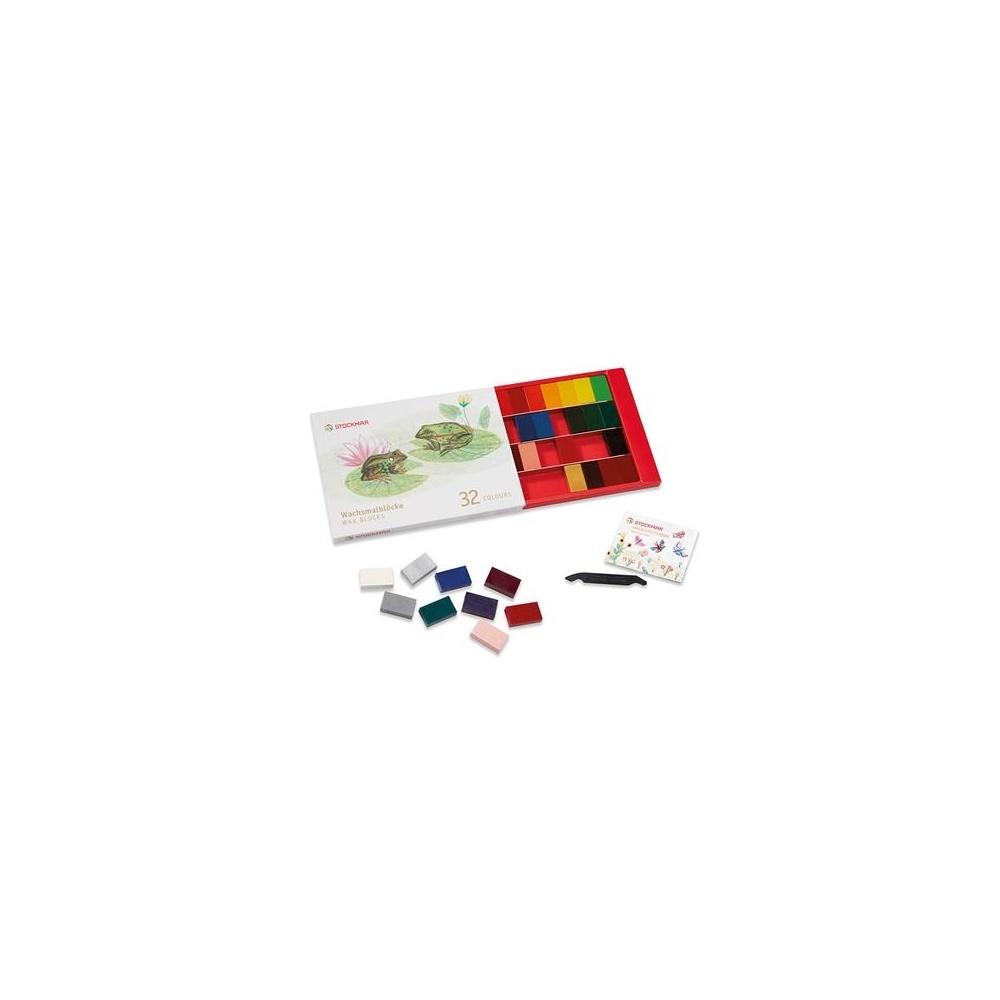 Nietoksyczne bloczki woskowe 32 kolory STOCKMAR