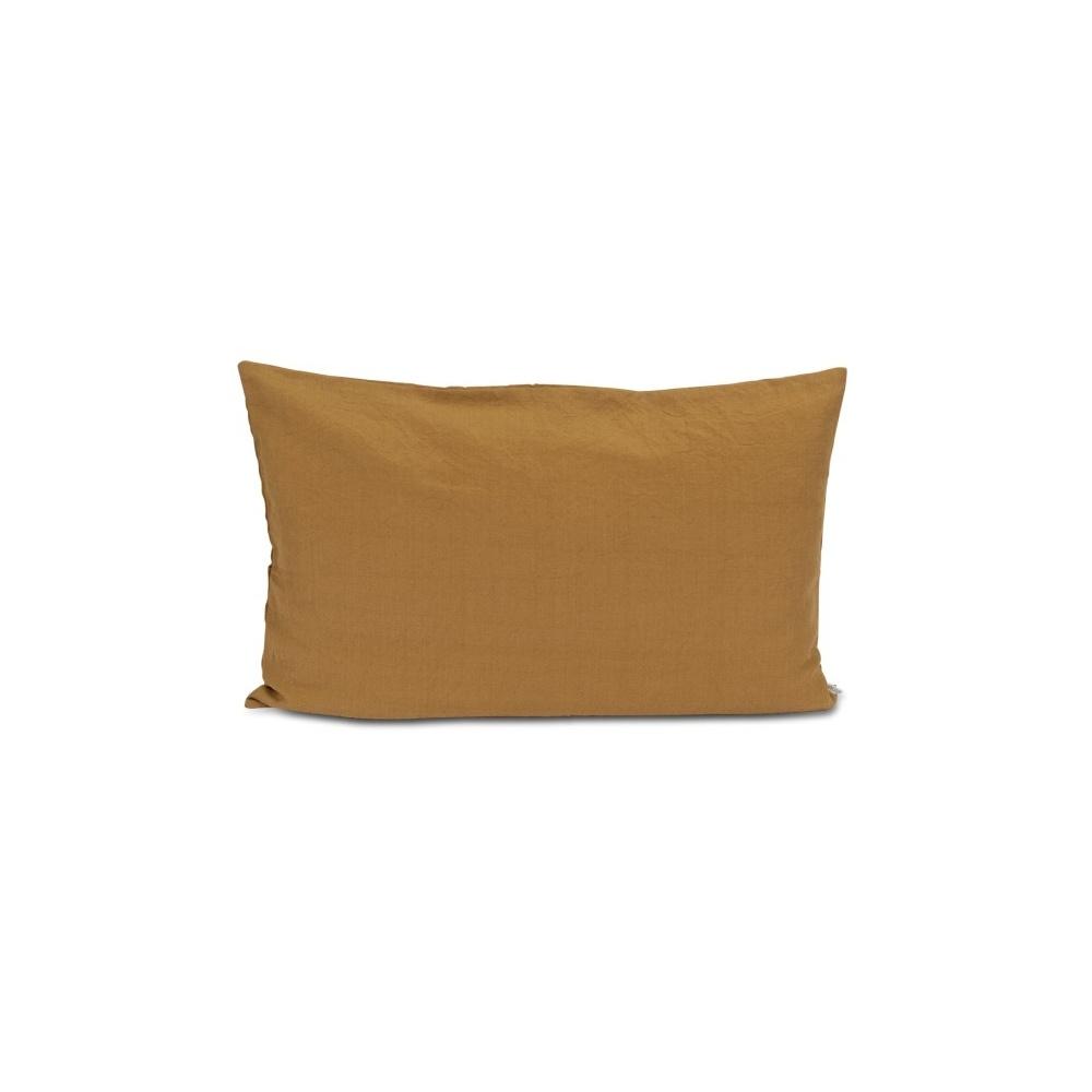 Lniano-bawełniana poduszka 40x60 KHAKI STUDIO FEDER