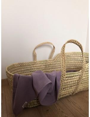 Otulacz muślinowy lavender lille