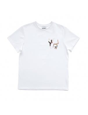 Bawełniany t-shirt z haftem yoga MOMU WARSAW