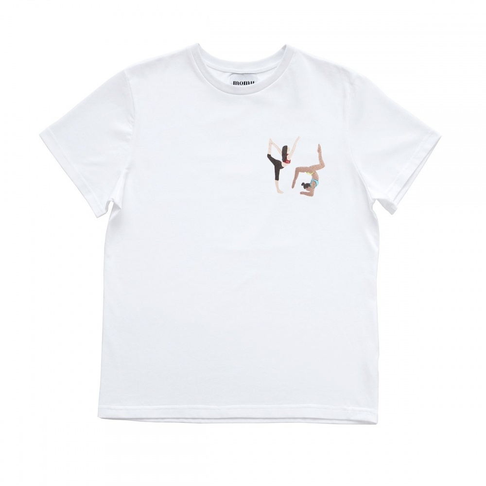 32e8d6132 Bawełniany t-shirt z haftem yoga MOMU WARSAW