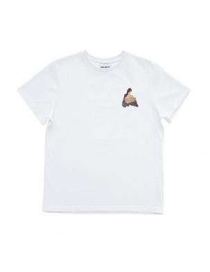 Bawełniany t-shirt z haftem mama MOMU WARSAW