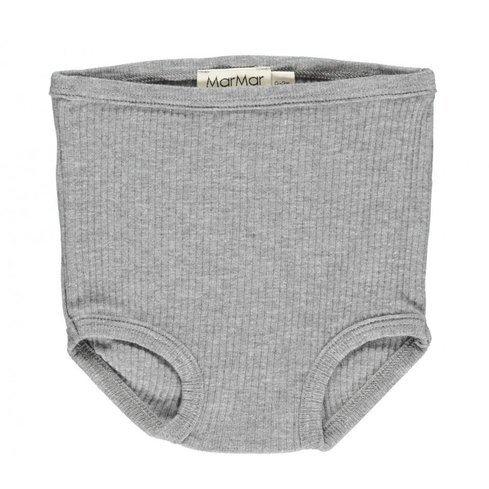 2- pak prążkowanych majteczek Grey Melange MarMar