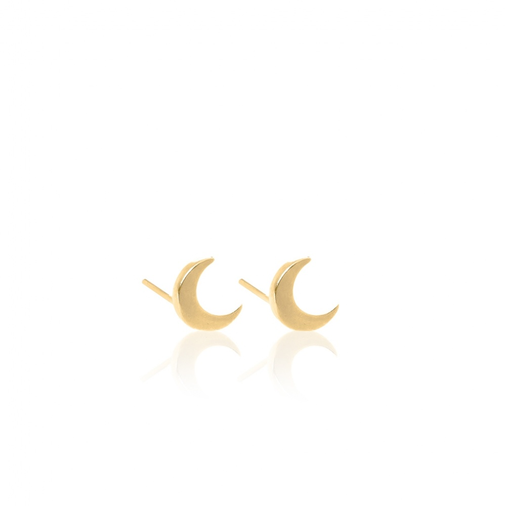 KOLCZYKI HALF MOON EARRINGS GOLD WISHBONE