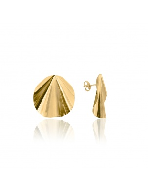 KOLCZYKI NOMADE EARRINGS GOLD WISHBONE