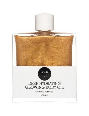 Naturalny, głęboko nawilżający olejek do ciała z drobinkami laouta