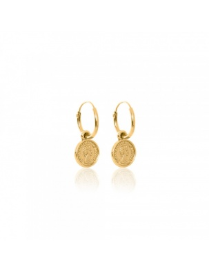 BOHEME COIN EARRINGS GOLD WISHBONE