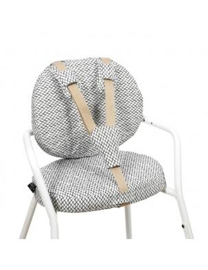 Poduszka do krzesełka TIBU High Chair Diamond B&W Charlie Crane