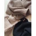 Wafelkowy ręcznik/kocyk CHARCOAL 130X130 cm lille