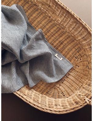 Otulacz lniany graphite stripes lille