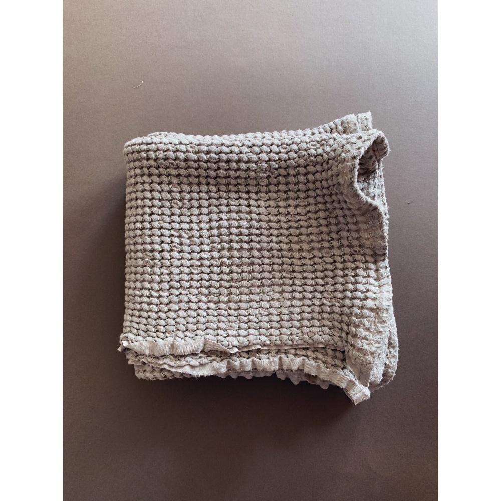 Wafelkowy ręcznik/kocyk BEIGE 130X130 cm lille