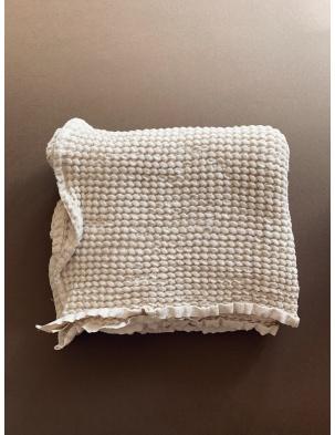 Wafelkowy ręcznik/kocyk CREAM 130X130 cm lille