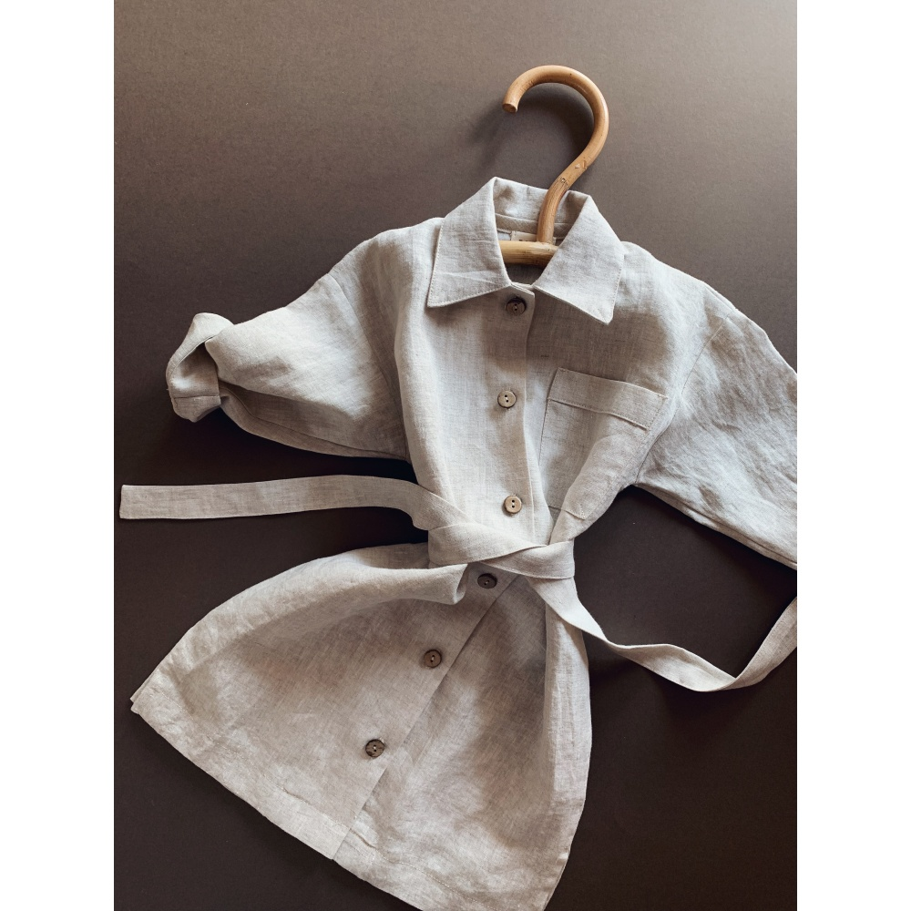 Lniana sukienka oversize lille