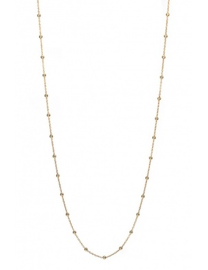 LONG DROPS NECKLACE GOLD WISHBONE