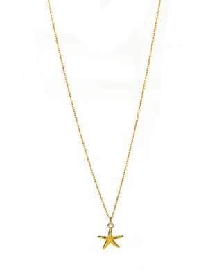 STARFISH NECKLACE GOLD WISHBONE