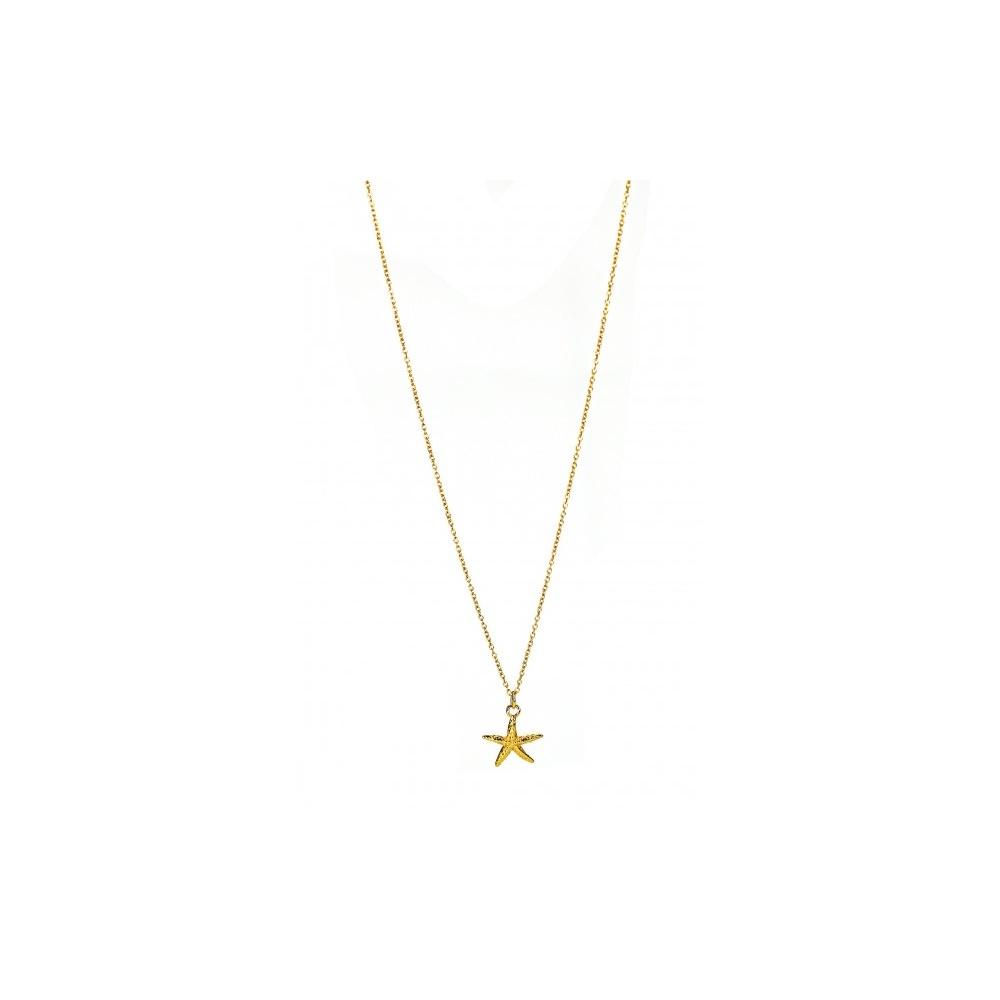 STARFISH NECKLACE GOLD WISHBONE
