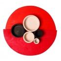 Zestaw miseczek czarno-białych kolekcja naturalna 1+ Grimm's
