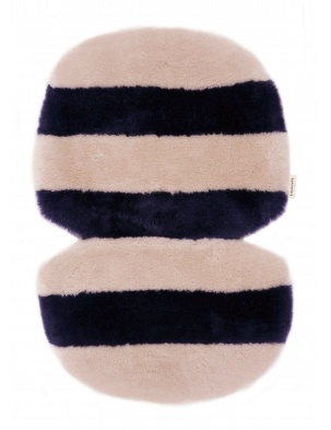 Wkładka do wózka/fotelika/kosza mojżesza ze skóry owczej BLUE ROSE BINIBAMBA