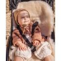Wkładka do wózka/fotelika/kosza mojżesza ze skóry owczej  MOON BINIBAMBA