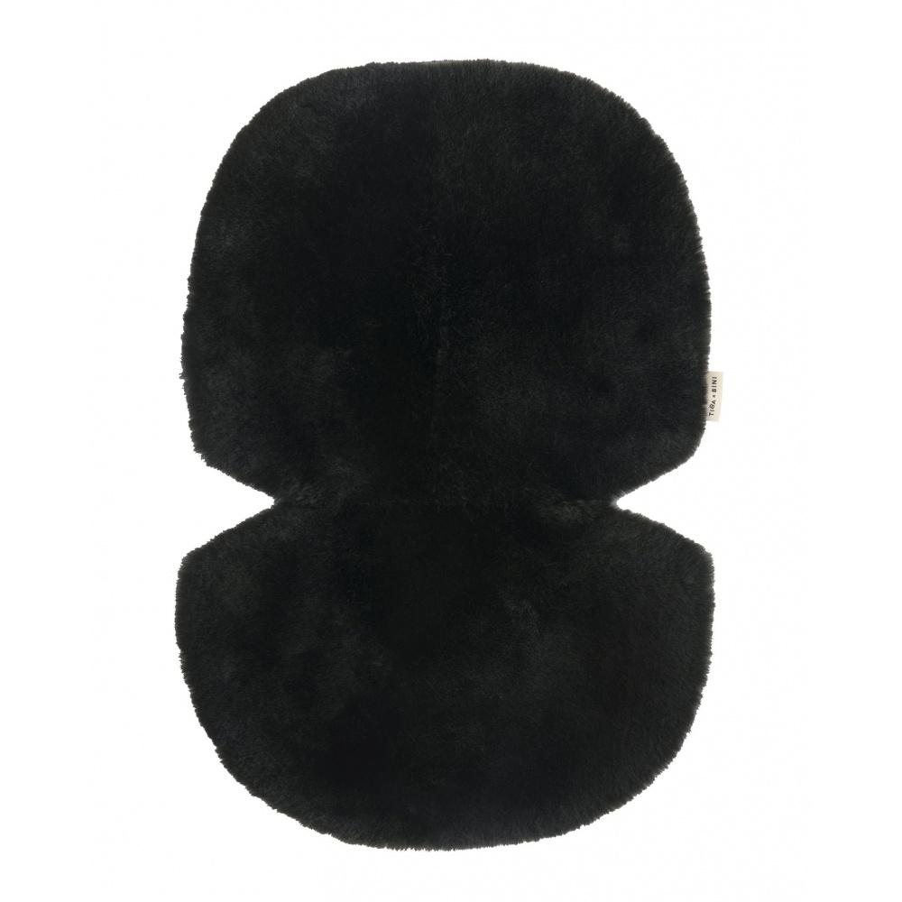 Wkładka do wózka/fotelika/kosza mojżesza ze skóry owczej NOIR BINIBAMBA