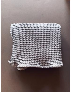 Wafelkowy ręcznik/kocyk GREY 130X130 cm lille
