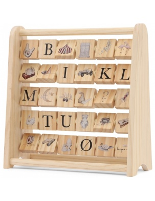 ABC WOODEN BLOCK FRAME Konges Sloejd