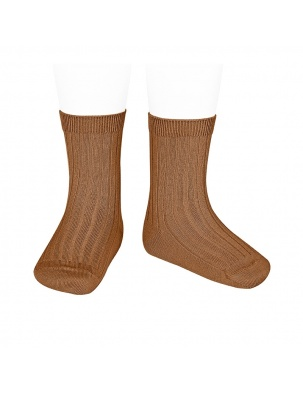 Skarpetki BASIC WIDE RIB SHORT SOCKS TOFFEE Condor