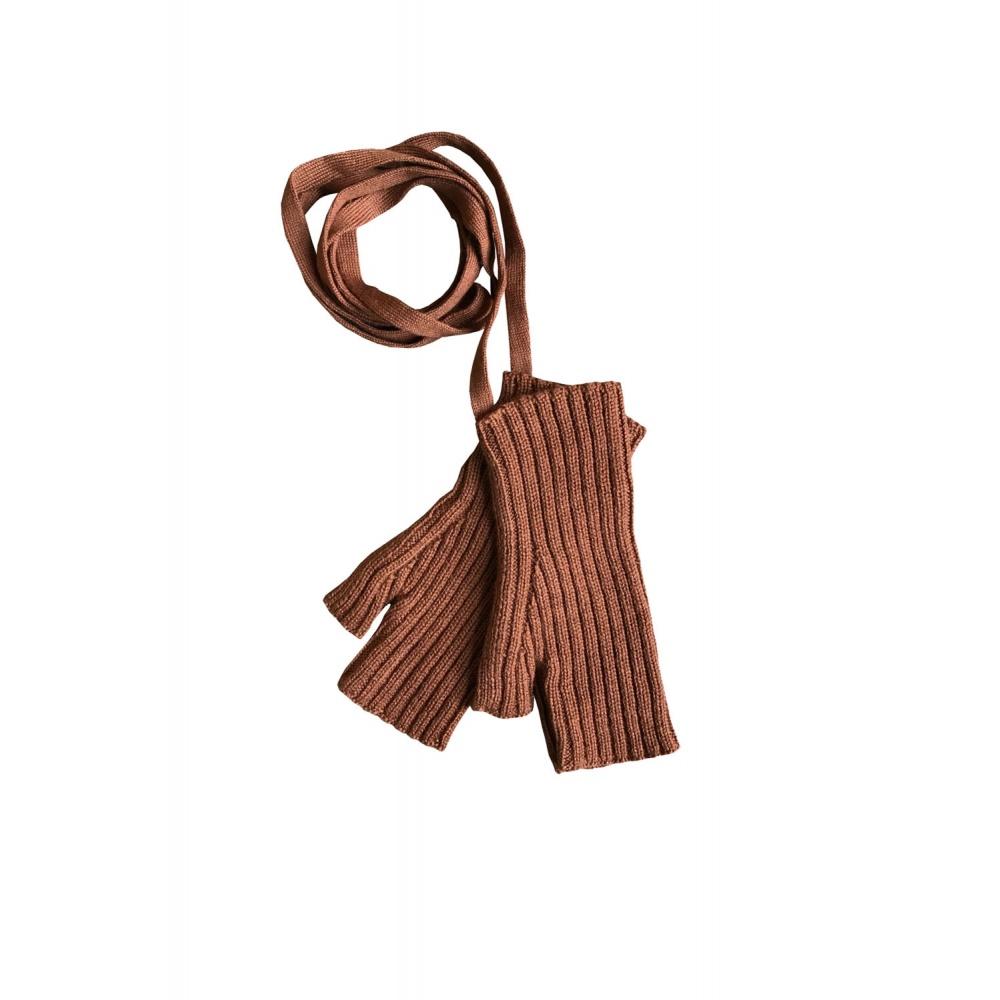 Rękawiczki Sylfaen Mittens on Strings - Cinnamon MABLI KNITS