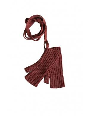 Rękawiczki Sylfaen Mittens on Strings - Redwood MABLI KNITS