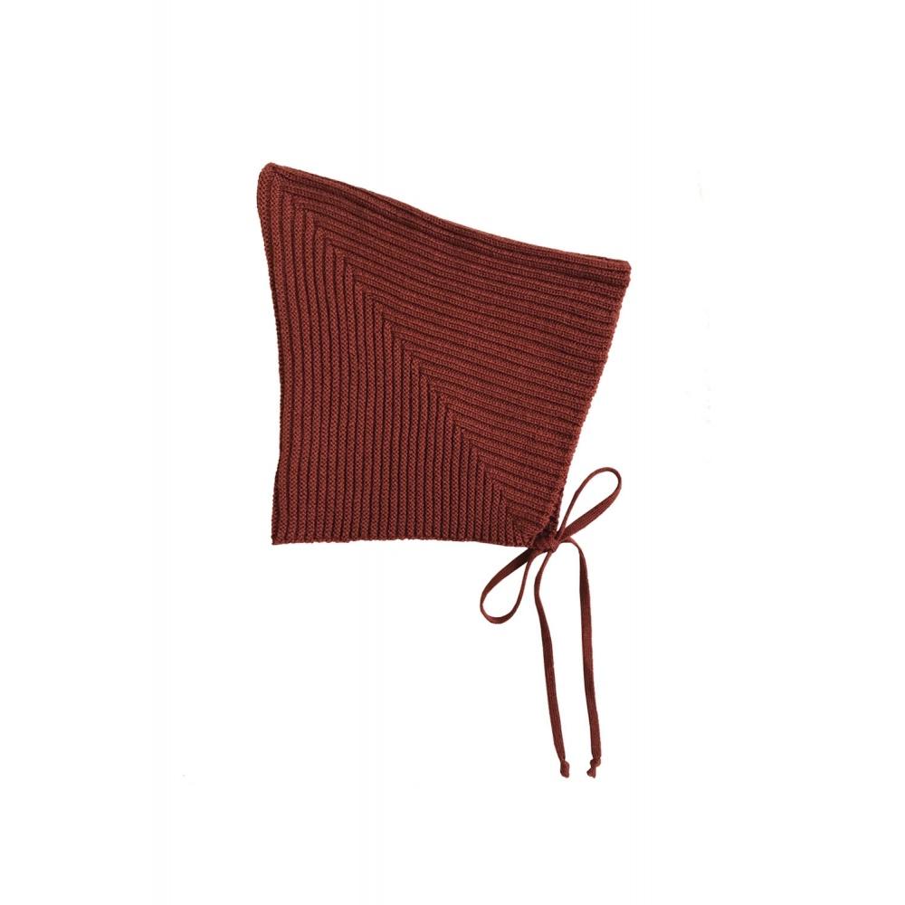 Sylfaen Pixie Bonnet - Redwood MABLI KNITS