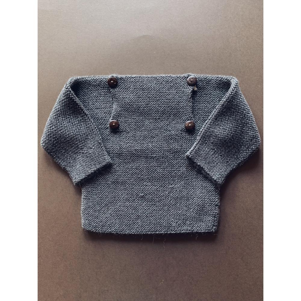 Sweter z alpaki Rico Dark Grey My Alpaca Copenhagen