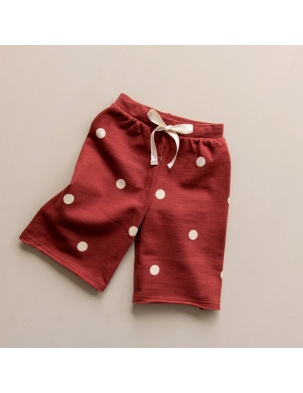 Spodnie Dots Wide Leg Trousers Burgundy ORGANIC ZOO